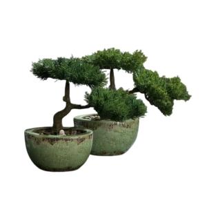 Sztuczny Bonsai w Porcelanowej Donicy