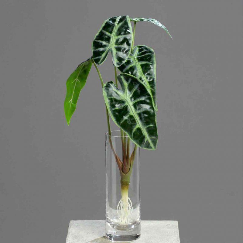 alocasia liscie sztuczna roślina