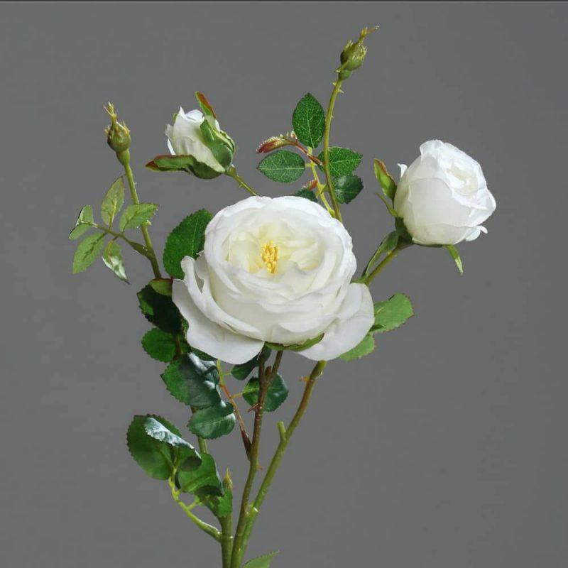 Sztuczne kwiaty biała pnąca róża 60 cm