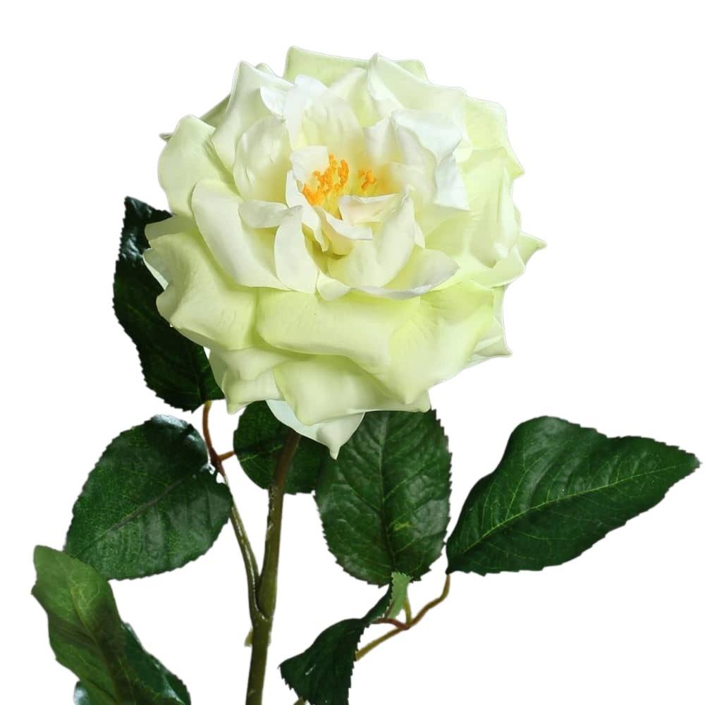 sztuczne kwiaty zielona róża 75 cm