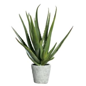 Sztuczny Aloes w Kamionkowej Donicy 40 cm - Jakość Premium