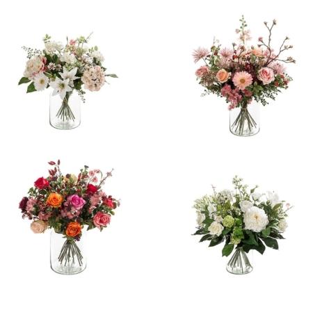 Bukiet ze Sztucznych Kwiatów w Szkle
