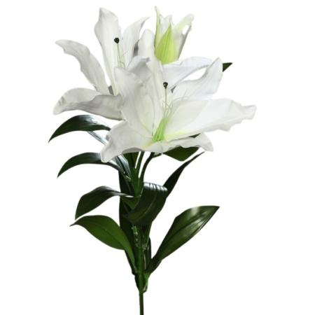 Lilia Biała 2 Kwiaty 1 Gałązka Duża 93 cm