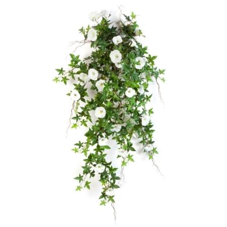 Sztuczny Kwitnący Bluszcz- Powój- biały