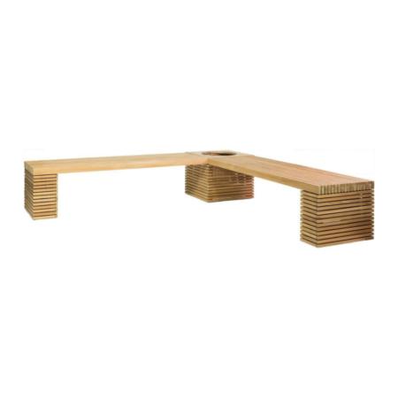 Zestaw ławek ogrodowych z donicą MODULO p1