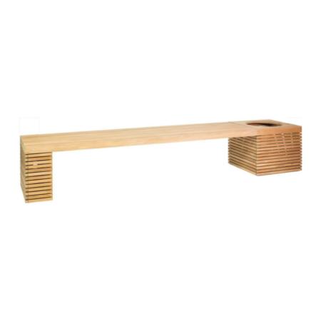 Drewniana Ławka Ogrodowa z Donicą MODULO p4