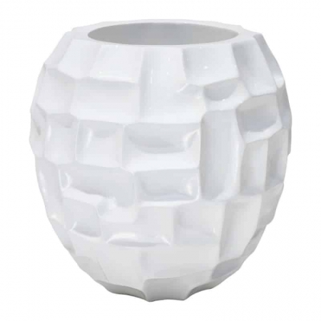 Doniczka na stół MOSAIC biała 03