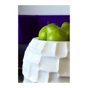 Doniczka na stół MOSAIC biała