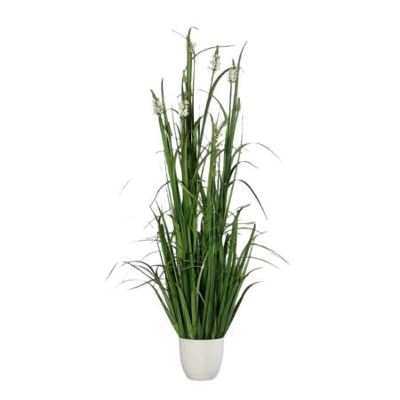 trawa z białymi kwiatami 135 cm