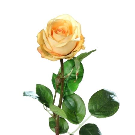 róża 66 cm naturalna w dotyku żółta