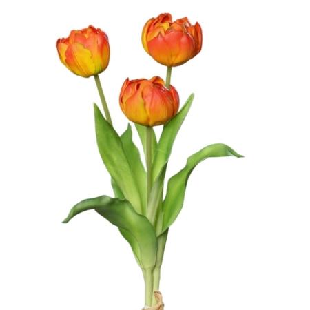 bukiet sztuczne tulipany naturalne w dotyku