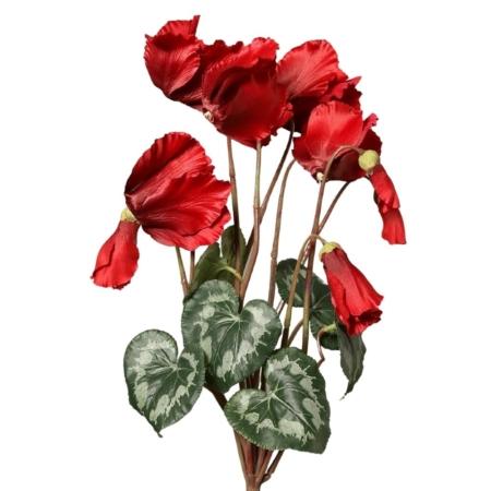 Sztuczny Czerwony Cyklamen 40 cm – Produkt Premium